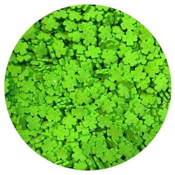 Кондитерские фигурные посыпки (Лист клевера зеленый) - фото 10035