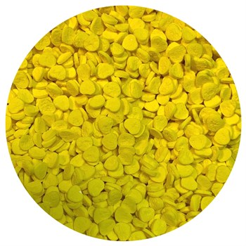 Кондитерские фигурные посыпки (Сердце желтое 4*4) - фото 10036