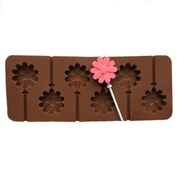 Силиконовая форма для шоколада Цветок леденец - фото 10071