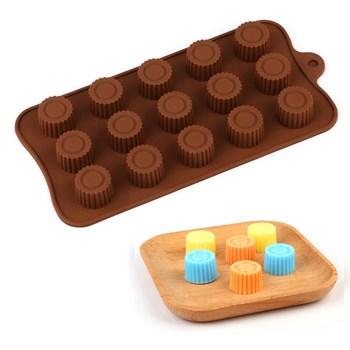 Силиконовая форма для шоколада Конфетки №2 - фото 10072