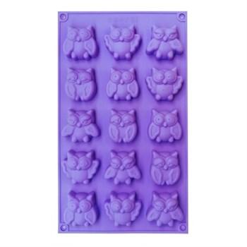 Силиконовая форма для шоколада Совы - фото 10080