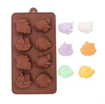 Силиконовая форма для шоколада Транспорт - фото 10094