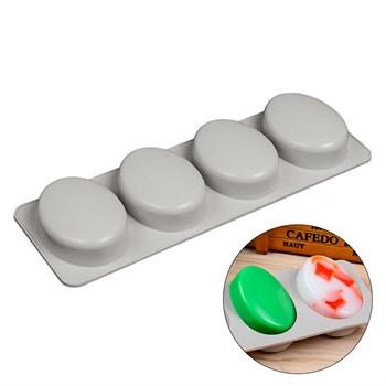 Силиконовая форма для мыла 4 Овала - фото 10261