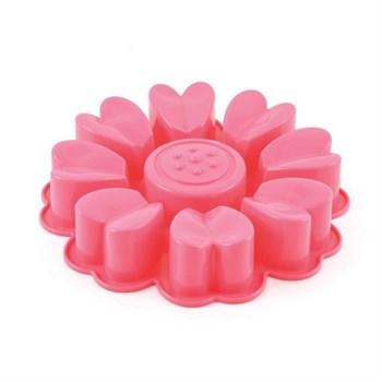 Силиконовая форма для выпечки Цветок из Сердец - фото 10296