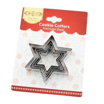 Форма для печенья Звезда (6-ти конечная) - фото 10430