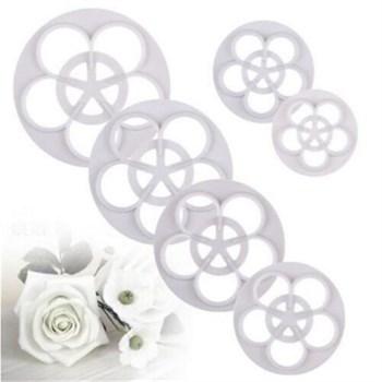 Набор из 6 формочек для вырубки Цветок розы - фото 5682