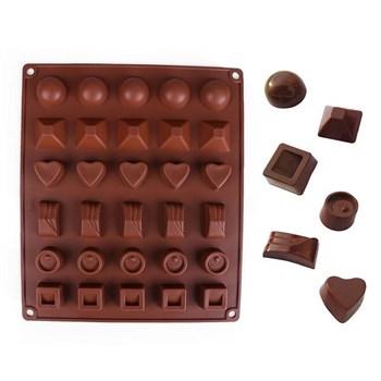 Силиконовая форма для конфет - фото 5793