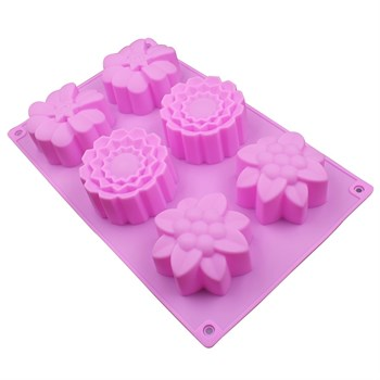 Силиконовая форма для выпечки Цветочки - фото 6774