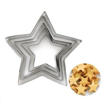 Формы для печенья Звезда (металл) 5 шт - фото 6944