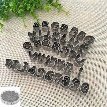 Набор металлических вырубок Алфавит английский + Цифры - фото 7130