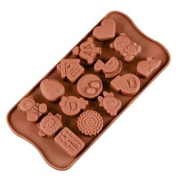 Силиконовая форма для шоколадных конфет Детская - фото 7154