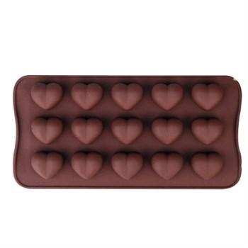 Силиконовая форма для шоколадных конфет Сердца - фото 7164