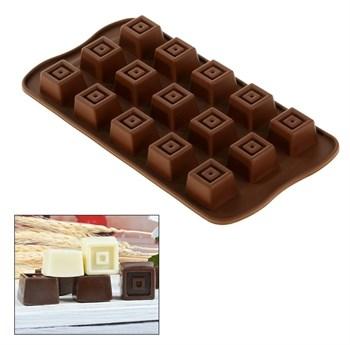 Силиконовая форма для шоколадных конфет Кубики - фото 7167