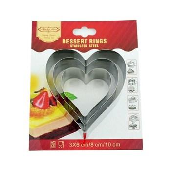 Металлический набор для печенья Сердце 3 шт - фото 7203