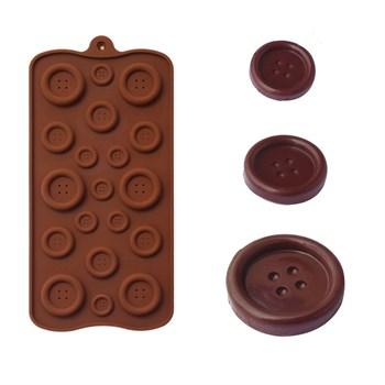 Силиконовая форма для шоколада Пуговицы - фото 7218