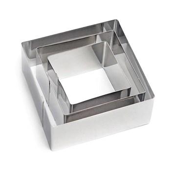 Металлический набор для печенья Квадрат (3 шт) - фото 7230