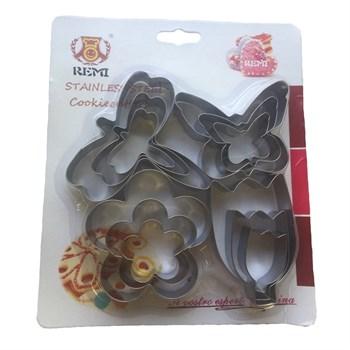 Металлический набор для печенья Весна (12 шт) - фото 7249