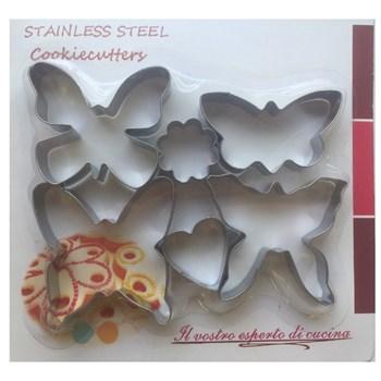 Металлический набор для печенья Бабочки - фото 7250