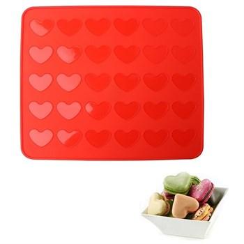 Силиконовый коврик для выпечки Сердца - фото 7290