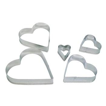 Форма для печенья Сердце (металл) 5 шт - фото 7532