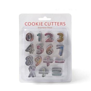 Металлический набор для печенья (Цифры + Знаки) - фото 7544
