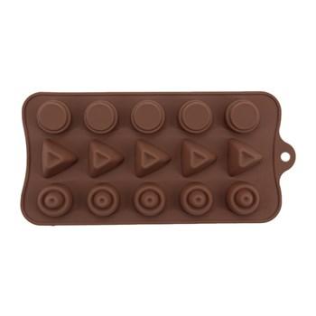 Силиконовая форма для шоколада Конфетки ассорти - фото 7592