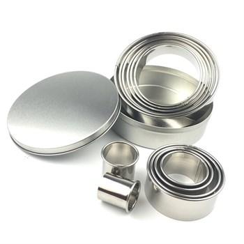 Металлический набор колец для вырубки (бокс) 12 шт - фото 7619