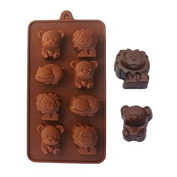 Силиконовая форма для шоколада Зоопарк - фото 7626