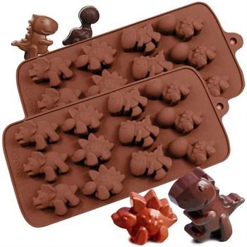 Силиконовая форма для шоколада Динозаврики - фото 7633