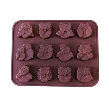 Силиконовая форма для шоколада Совята - фото 7692
