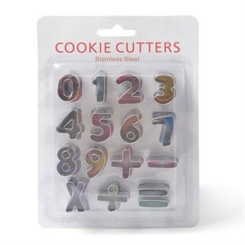 Металлический набор для печенья (Цифры + Знаки) - фото 7703