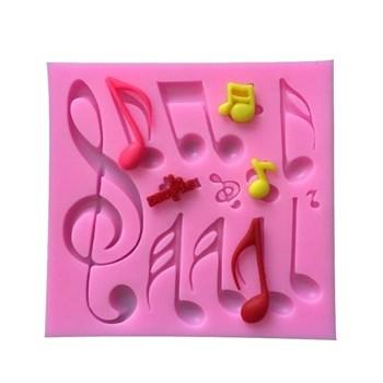 Силиконовый молд Музыкальные ноты - фото 7709