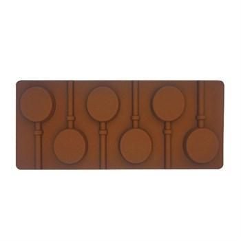 Силиконовая форма для шоколада Леденец - фото 7717