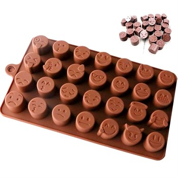 Силиконовая форма для шоколада Смайлики - фото 7722