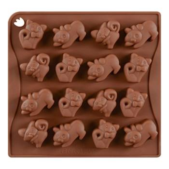 Силиконовая форма для шоколада Котята - фото 7727