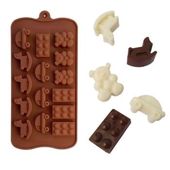 Силиконовая форма для шоколада Игрушки - фото 7739