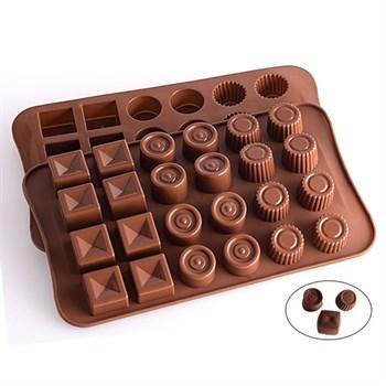 Силиконовая форма для шоколада Набор Конфет - фото 7801