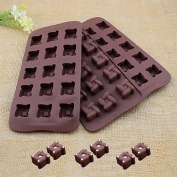 Силиконовая форма для шоколада Фигурная - фото 7805