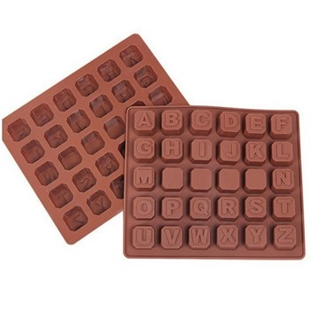 Силиконовая форма для шоколада 26 Английских букв - фото 7811