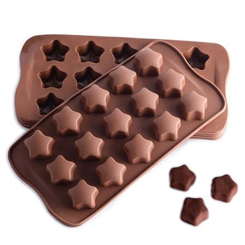 Силиконовая форма для шоколада Звезды - фото 7815