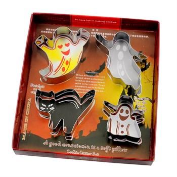 Металлический набор для печенья Хеллоуин (4шт) - фото 7848