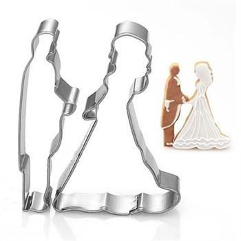 Металлические вырубки Жених и Невеста (штучные) - фото 7921