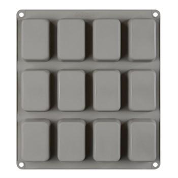Силиконовая форма для шоколада 12 Квадратов - фото 7944