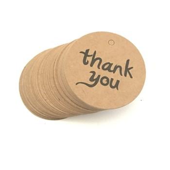 Этикетка (бирка) thank you (Круглые, 25 шт) - фото 7952