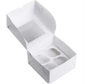 Коробка на 4 капкейка - фото 8287