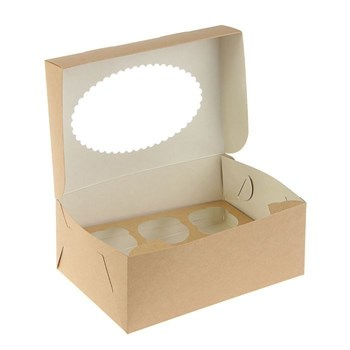 "Коробка на 6 капкейков ""крафт"" - фото 8294"