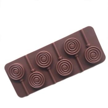 Силиконовая форма для шоколада Радужный Леденец - фото 8388