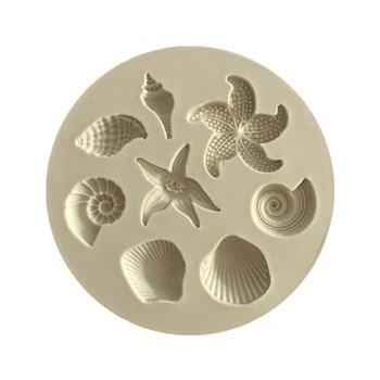 Силиконовый молд Морские ракушки - фото 8403