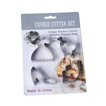 Металлический набор для печенья Модница - фото 8556
