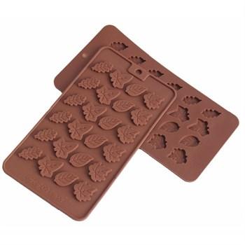 Силиконовая форма для шоколада Листопад - фото 8601